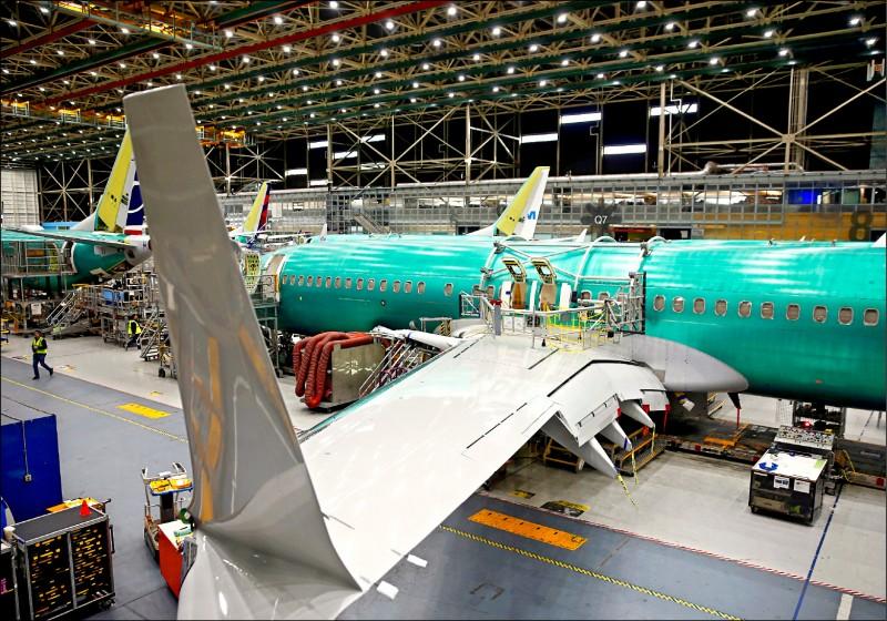 波音找出737機翼瑕疵。(法新社)