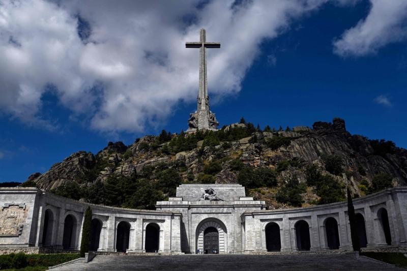 佛朗哥的墳墓目前位在所屬於天主教會的「烈士谷」。(法新社)