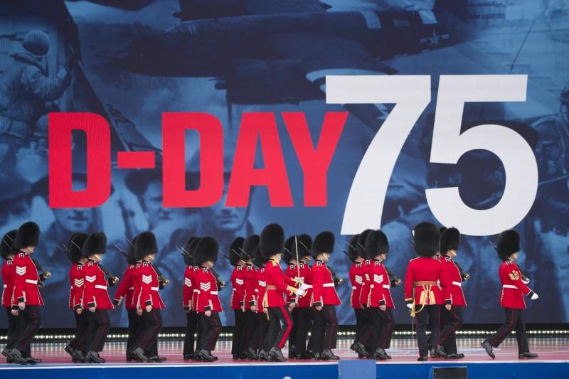 諾曼第登陸作戰日(D-Day)75週年紀念典禮,在英國樸茨茅斯港舉行。(美聯社)