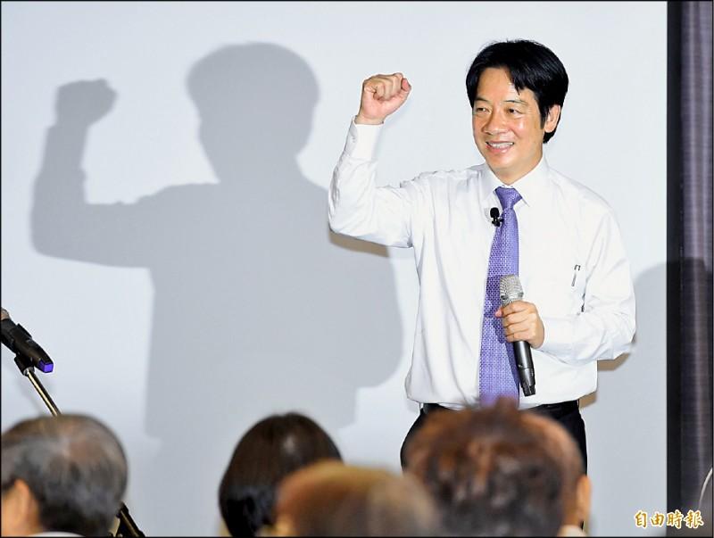 前行政院長賴清德5日應邀到台灣大學集思會議中心進行專題演講,受到現場民眾熱烈歡迎。(記者廖振輝攝)
