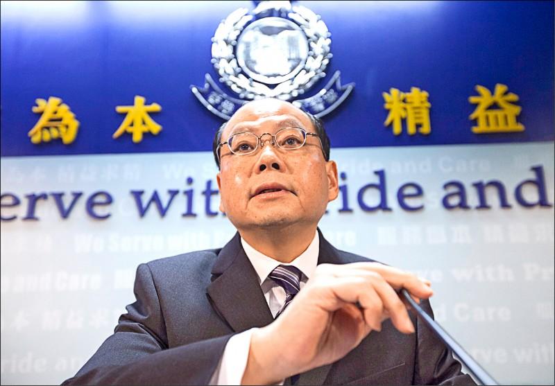 香港前警務處長曾偉雄。(歐新社檔案照)