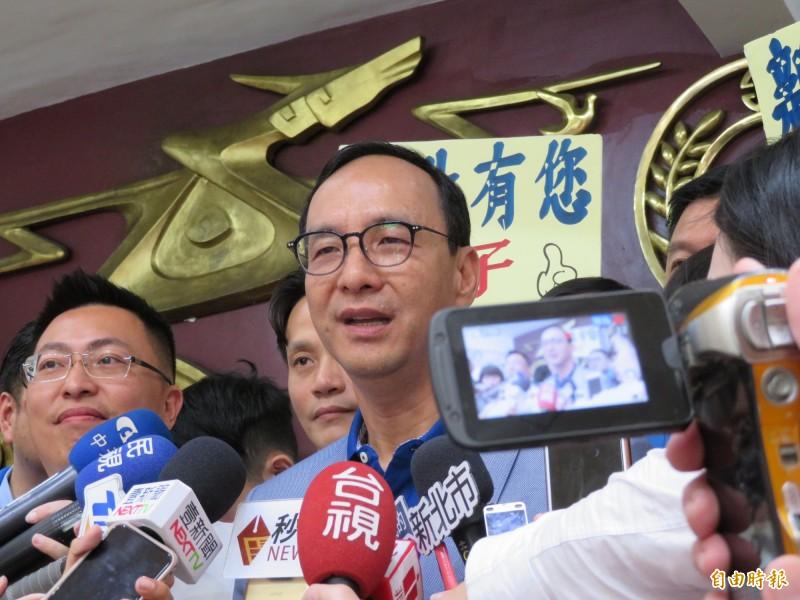 朱立倫相信王金平不會脫黨參選。(記者何玉華攝)