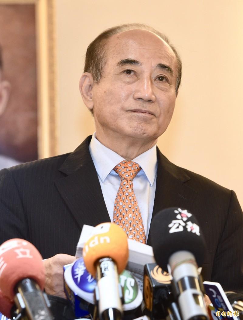 已表態角逐總統的前立法院長王金平宣布不參加國民黨初選。(記者羅沛德攝)