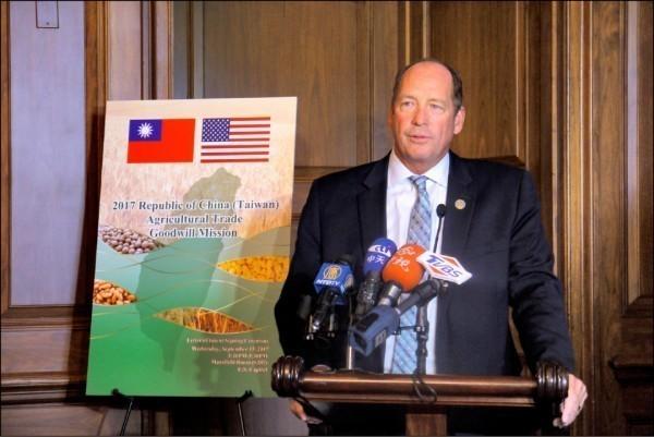 美國眾議院外交委員會亞太小組委員會主席約霍(Ted Yoho)。(中央社,資料照)