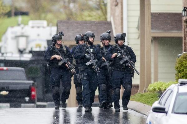 美國警方示意圖。(歐新社)