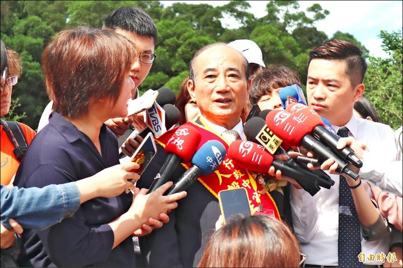 前立法院長王金平昨表示,自己目前沒有與任何人合作的打算,也從來沒有要離開國民黨。(記者周湘芸攝)