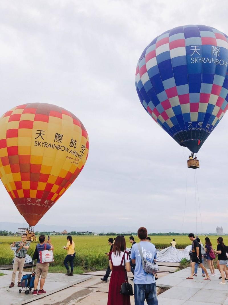 熱氣球嘉年華活動今天開幕。(圖由冬山鄉公所提供)