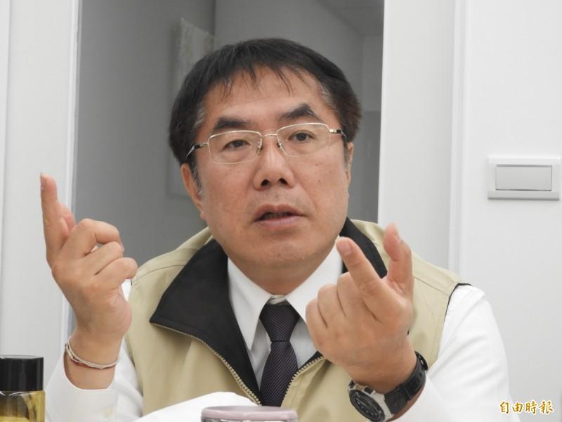 民進黨總統初選政見會,台南市長黃偉哲認為,蔡英文及賴清德都得90分以上。(記者洪瑞琴攝)