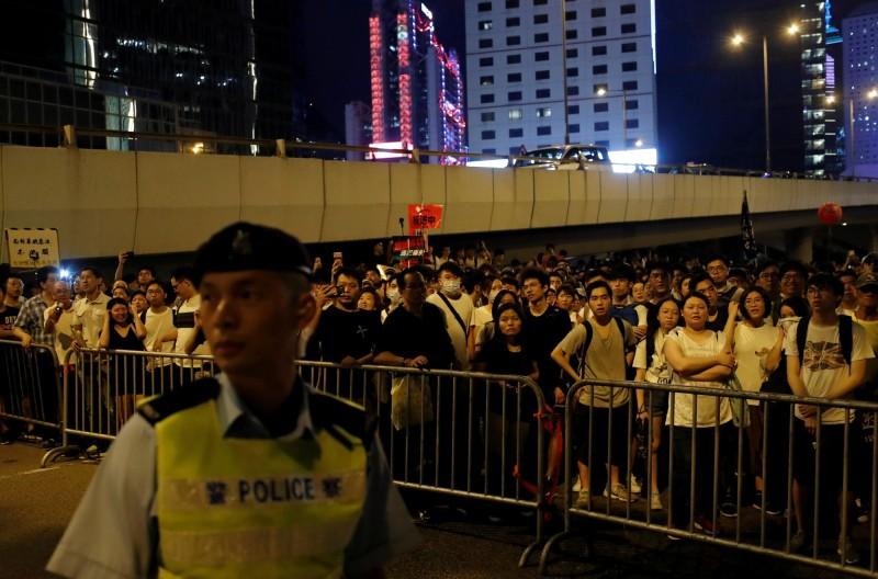 香港民間人權陣線今發起的反送中大遊行,過程中傳出發生多起零星衝突。(路透)