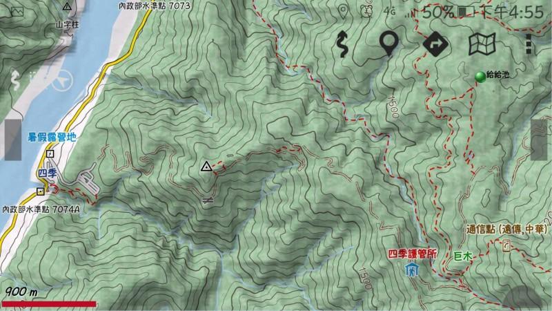 桃園市復興登山隊登上宜蘭縣大同鄉加羅湖旁的給給池,回程時3名男性登山客走失。(圖由宜蘭縣消防局提供)