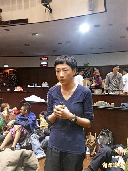 香港「佔中九子」中的立法會議員陳淑莊,今日被裁定煽惑他人犯公眾妨擾罪以及煽惑他人煽惑公眾妨擾罪兩項罪名成立。(資料照,記者陳彥廷攝)