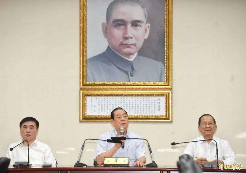 國民黨公布總統初選名單。(記者方賓照攝)