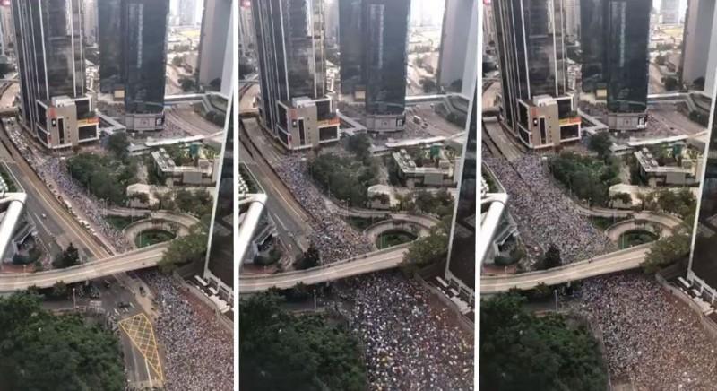 香港反送中大遊行縮時攝影畫面曝光,讓全球網友都感到相當震撼。(圖擷取自YouTube)