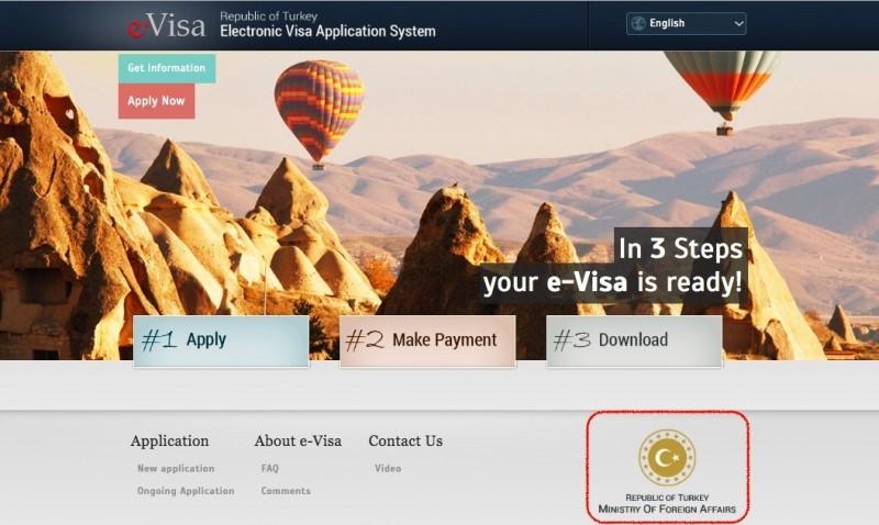 暑假旅遊旺季鄰近,外交部今天提醒國人,赴土耳其商旅,請到土耳其政府公告的唯一官方網站,就可以申請免費的電子簽證。(翻攝自土耳其政府申辦電子簽證網頁)