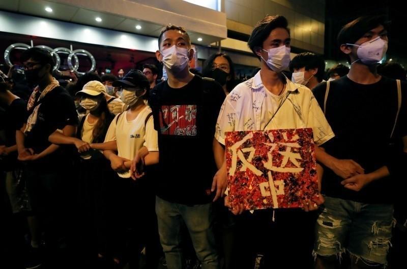 香港9日舉行「反送中」大遊行,百萬人上街反對《逃犯條例》修法。(資料照,路透)