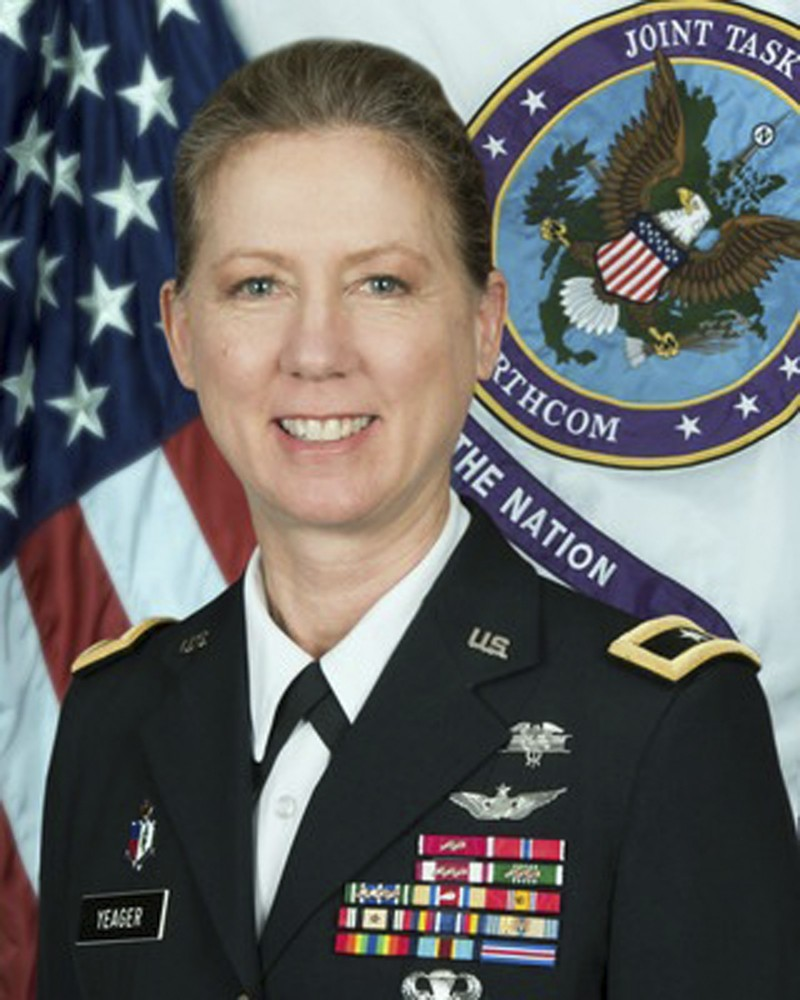 美國陸軍8日宣布,現任美國北方聯合特遣隊的指揮官准將葉格(見圖),本月底將接掌加州國民兵第40步兵師,成為美國陸軍有史以來第一位女性步兵師長。(美聯社)