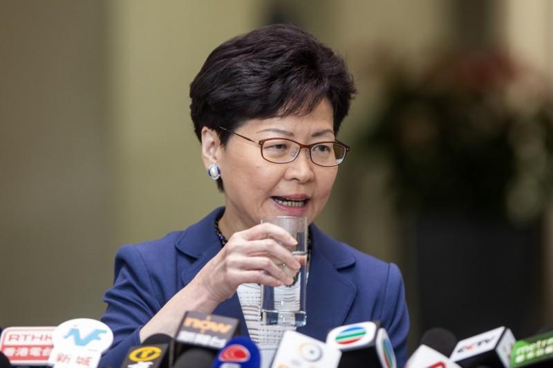 對於外界質疑《逃犯條例》未將人權保障納入,林鄭月娥辯稱:「可保持靈活性」。(彭博)