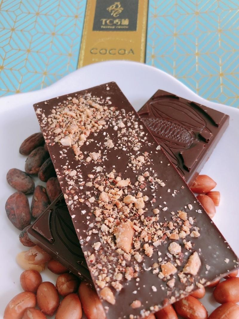 TC巧鋪也以「台灣花生巧克力60%」獲得銀獎。(圖由屏東縣政府提供)