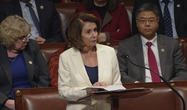 美國眾議院議長裴洛西對香港《逃犯條例》修法發表聲明。(路透檔案照)