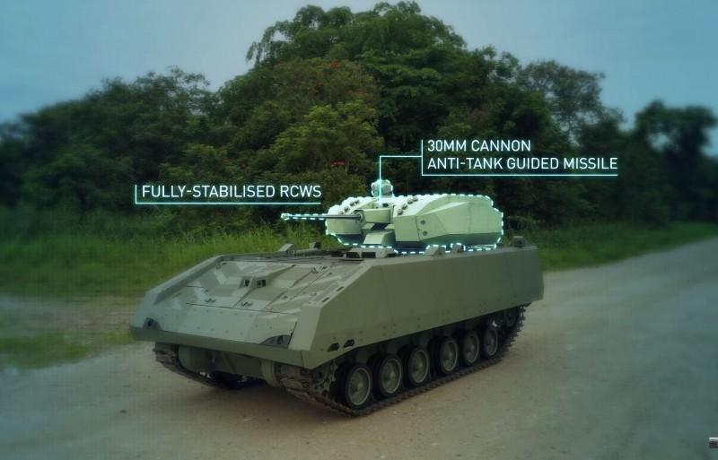 新加坡陸軍最新服役的「獵人」步兵戰鬥車。(圖擷取自新加坡陸軍臉書)