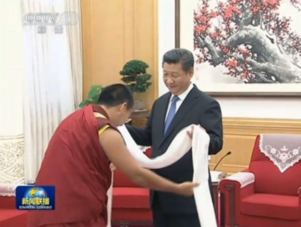 第11世班禪喇嘛5月首度出訪泰國。(電視畫面擷圖,擷取自《自由亞洲電台》)