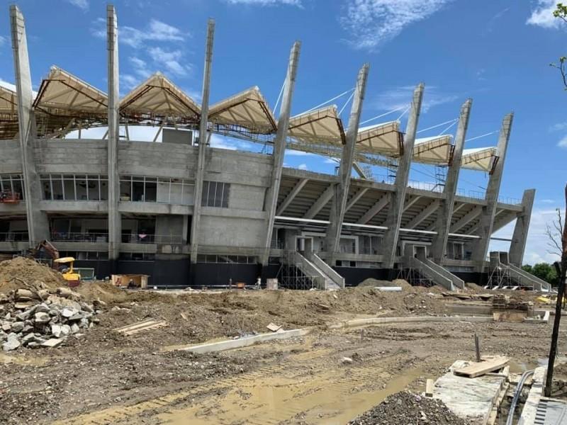 台南首座亞太國際棒球村少棒球場趕工中。(擷自「U12世界盃少棒賽」粉專臉書 )