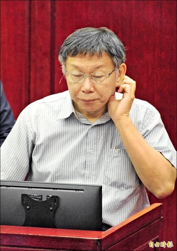 民進黨總統初選,總統蔡英文確定出線,但台北市長柯文哲昨對於是否參選總統仍未鬆口。(記者王藝菘攝)