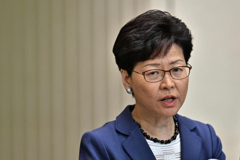 香港網友發起連署,要求法國政府褫奪林鄭月娥的「榮譽軍團勳章」。(法新社)