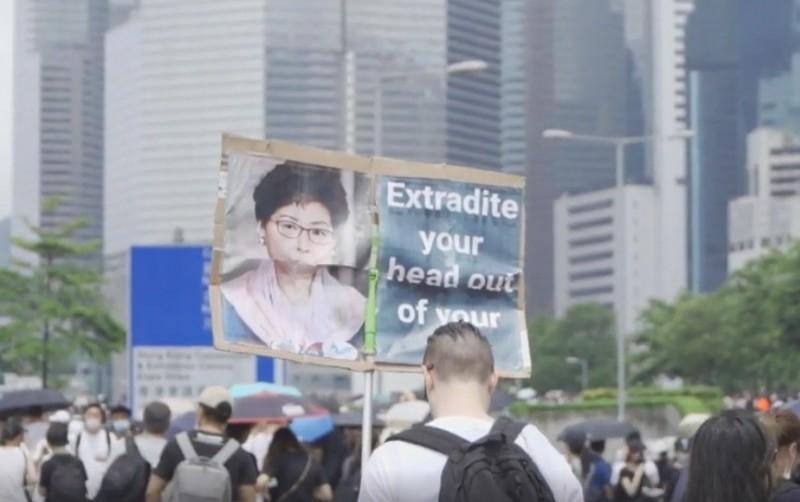 香港反送中。(陳文彬提供)