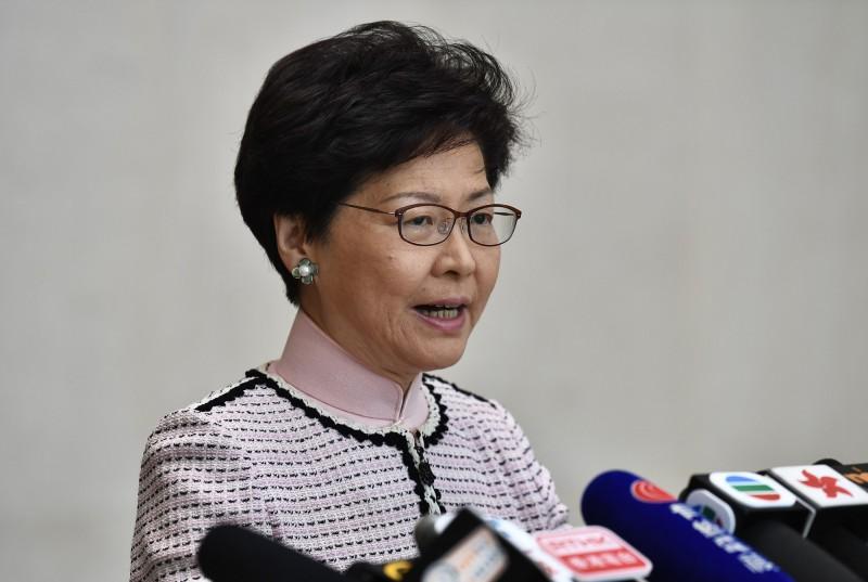 港媒報導,香港特首林鄭月娥預計下午3點召開記者會宣布暫緩修逃犯條例。(中央社)