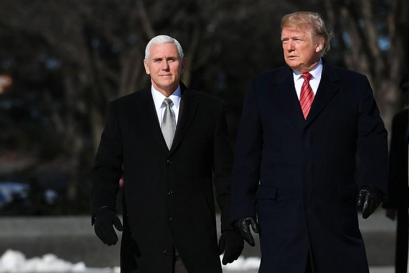 美國總統川普和美國副總統彭斯。(法新社資料照)