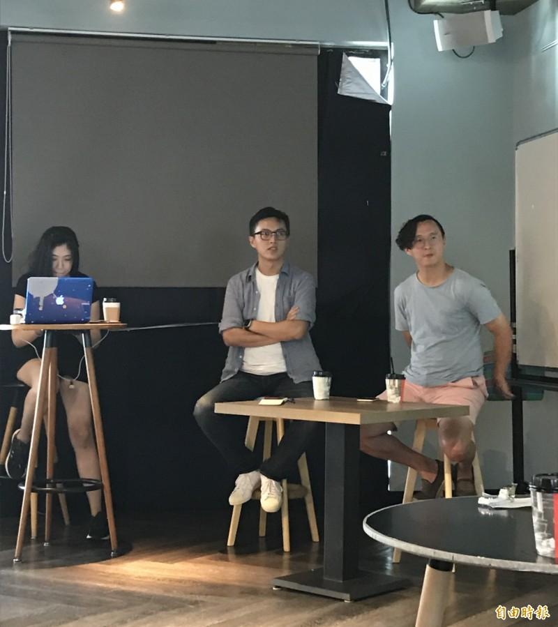 導演林君陽(中)表示,現實中大部分問題都是棘手問題,並沒有明確解決方案。(記者蔡思培攝)