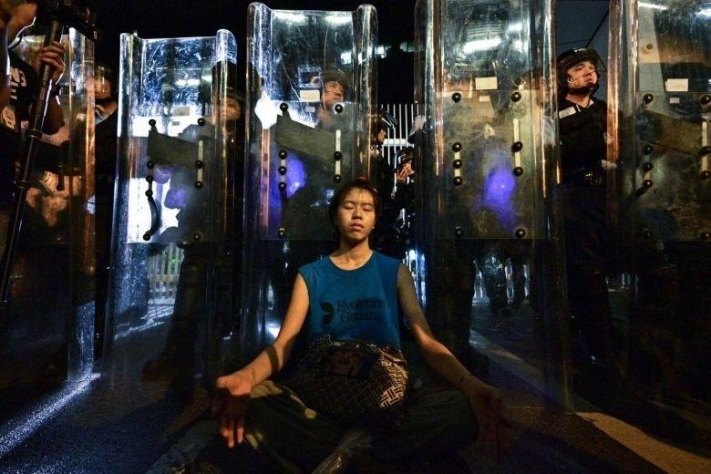 香港「盾牌女孩」 成反送中代表形象