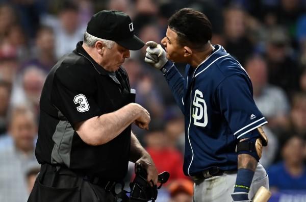 MLB》抗議好球帶被趕出場 馬查多摔球具狂噴髒話(影音)