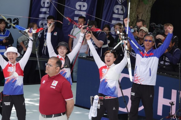 射箭》狂!台灣反曲弓女團射落強敵南韓 進帳世錦賽隊史首金
