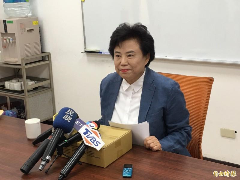 國民黨立委沈智慧召開記者會澄清她沒有支持一國兩制。(記者林良昇攝)