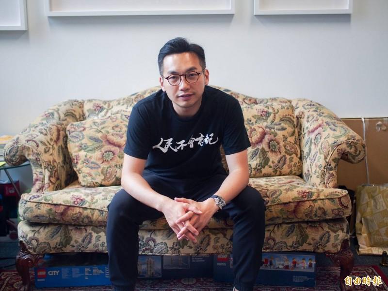 香港立法會議員楊岳橋接受本報記者專訪,表示香港人要求完全撤回《逃犯條例》。(記者簡惠茹攝)