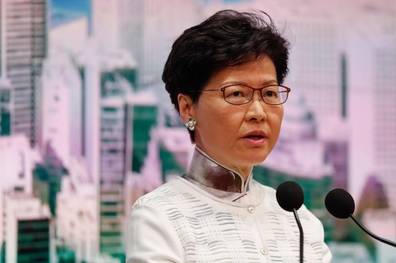 香港特首林鄭月娥16日發表道歉聲明,不被人民所接受。(歐新社)