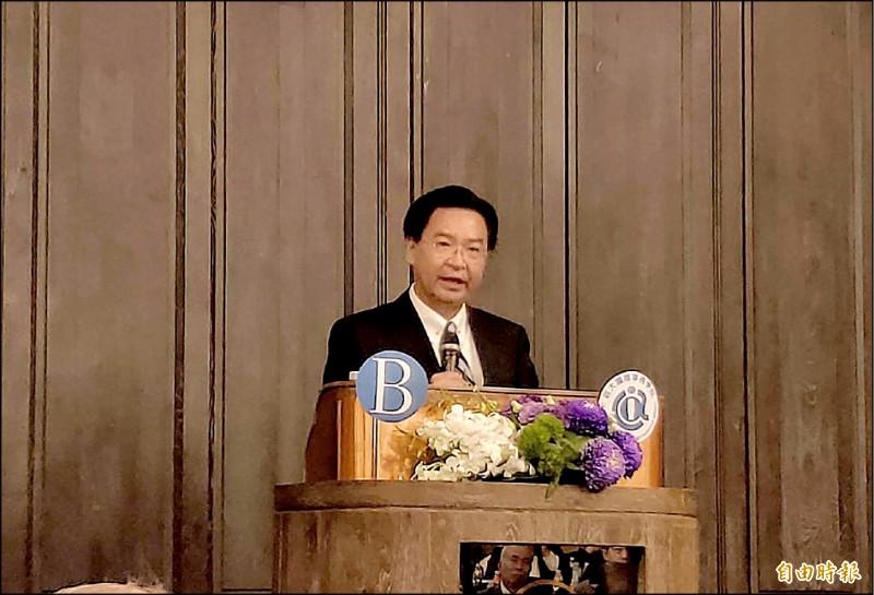 「亞洲和平的風險」研討會上,外交部長吳釗燮發表演講。(記者呂伊萱攝)