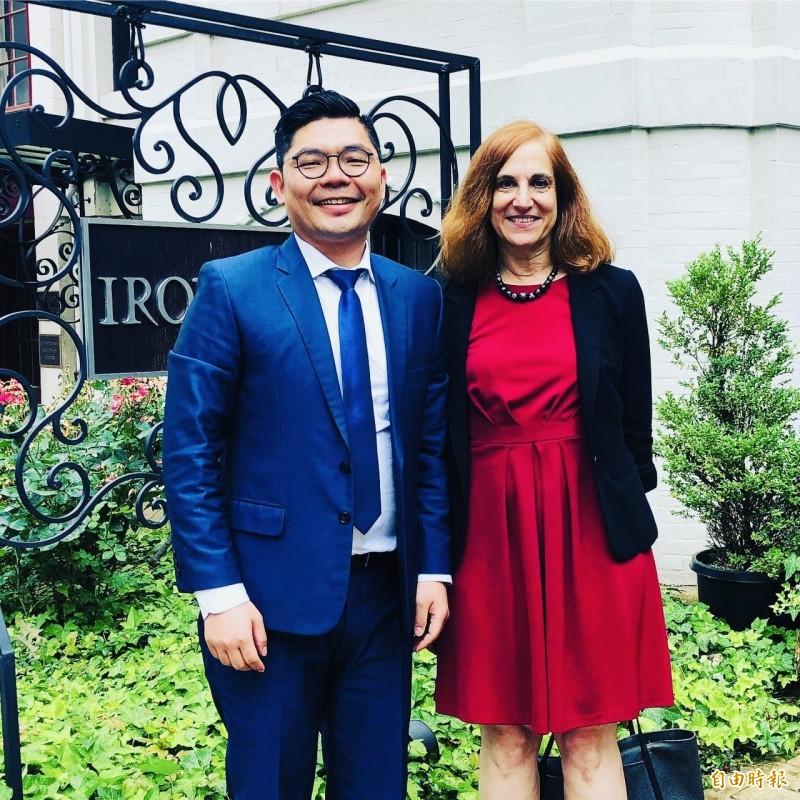 許毓仁會晤美國智庫戰略國際研究中心中國專家葛來儀。(許毓仁提供)