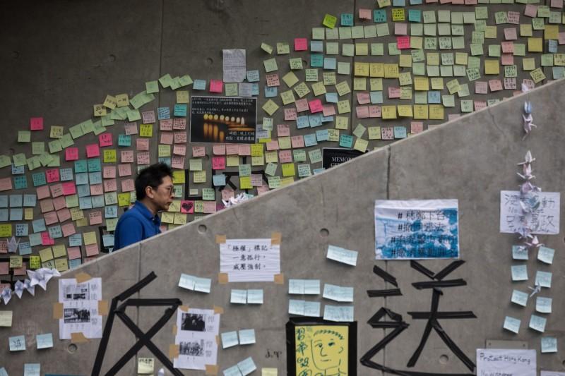 香港16日約有200萬名港民上街抗議遊行。(歐新社)