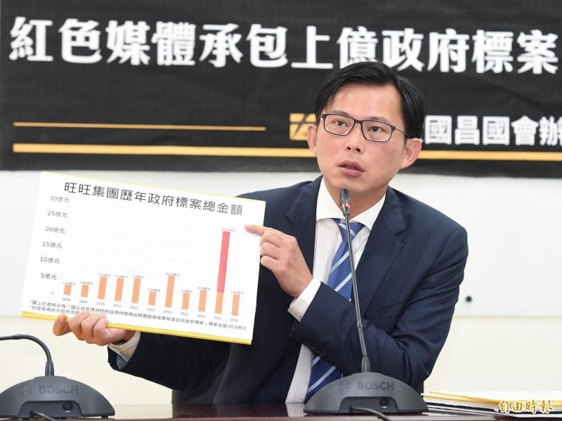 黃國昌今特別拜會NCC,要求依法廢止《中天電視》執照,還自爆他與NCC官員對話內容。(資料照)