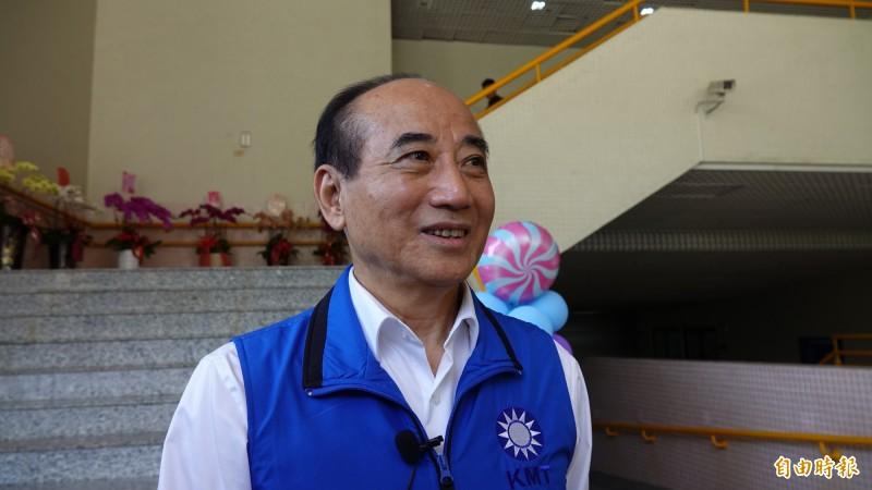 前立法院長、國民黨立委王金平表示,郭台銘看到昨天韓國瑜到訪,就交代幕僚聯繫「也要過來」。(資料照)
