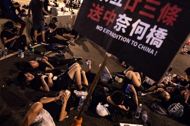 香港發生反送中抗爭,在台灣也造成迴響。(歐新社)