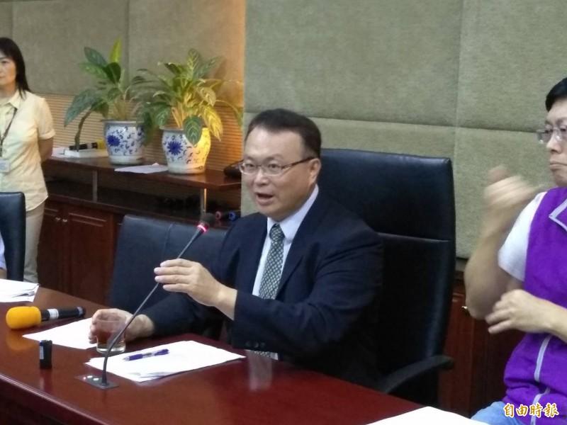 NCC代理發言人蕭祈宏。(記者劉力仁攝)