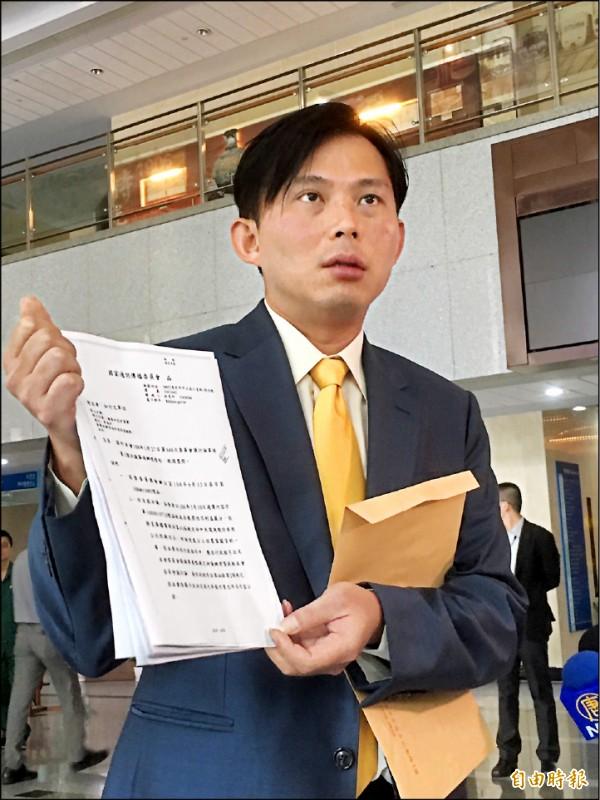黃國昌前天拜訪NCC,要求廢止中天電視執照。(資料照,記者楊綿傑攝)
