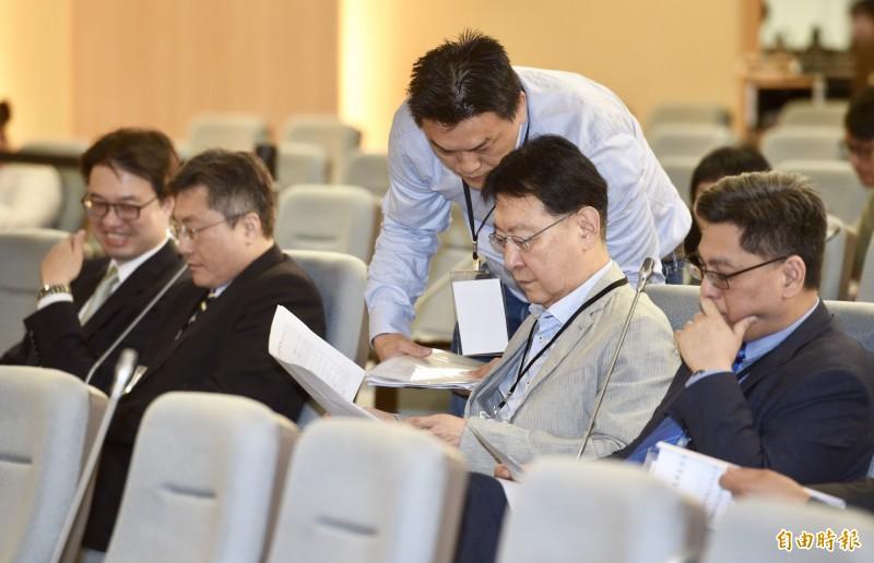 黨產會20日舉行「中廣是否為社團法人中國國民黨之附隨組織」聽證會,中廣董事長趙少康出席會議。(記者羅沛德攝)