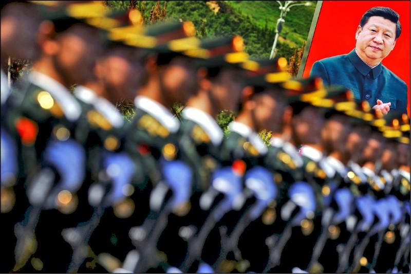 中國國家主席習近平已變成獨裁者,目標是稱霸印度—太平洋地區。做為習近平的終極殺戮機器,人民解放軍不僅承擔統治中國的任務,也負責向外拓展中國的邊界。(路透)