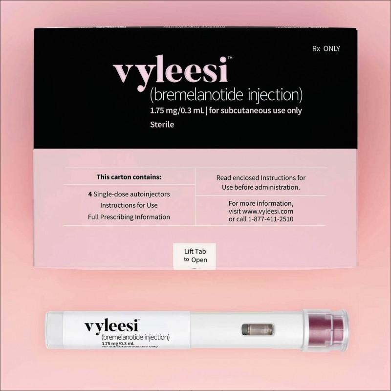 美國食品藥物管理局批准治療女性性慾低落的藥物「Vyleesi」上市。(美聯社)