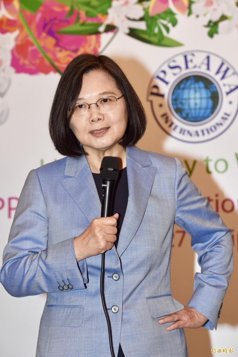 總統蔡英文23日出席PPSEAWA泛太平洋暨東南亞婦女協會年會。(記者羅沛德攝)